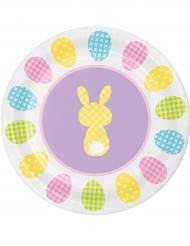 8 kartonnen bordjes met konijn