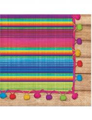 16 Mexicaanse poncho servetten