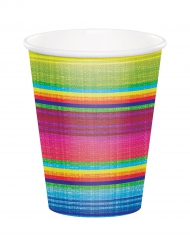 8 kartonnen bekertjes kleuren poncho