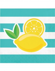 16 servetten met citroen