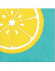 16 papieren servetten met citroen