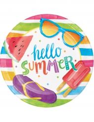 8 kartonnen bekertjes Hello Summer