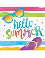 16 servetten Hello Summer