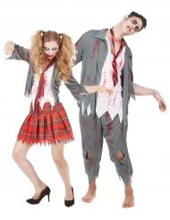 Zombie scholieren koppelkostuum voor volwassenen
