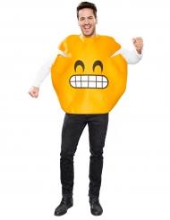Grijnzend emoticon kostuum voor volwassenen