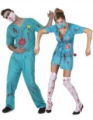 Zombie dokters koppelkostuum voor volwassenen