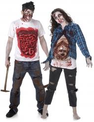 Gore zombie koppelkostuum voor volwassenen