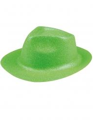 Groene glitter hoed voor vrolwassenen