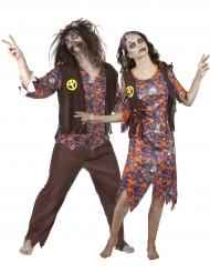 Hippie zombie koppelkostuum voor volwassenen