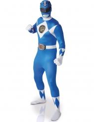 Blauw Power Rangers™ second skin kostuum voor volwassenen