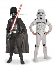Darth Vader en Storm Trooper Star Wars™ koppelkostuum voor kinderen