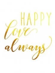 Happy love always nep tatoeages
