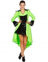 Luxe fluo groene jas voor volwassenen