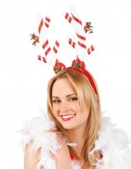 Kerst suikerstok haarband voor volwassenen