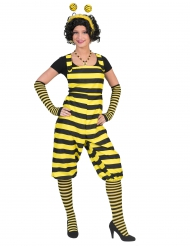 Zwart en geel bijen kostuum voor dames