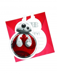 6 Star Wars 8 The Last Jedi uitnodigingen en enveloppen