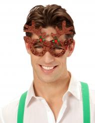 Rendier bril met glitters voor volwassenen