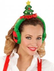 Kerstboom oorwarmer voor volwassenen