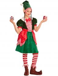 Klassiek kersthulpje kostuum voor meisjes