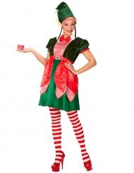 Kerstelf kostuum voor vrouwen