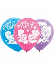 6 latex Shimmer & Shine™ ballonnen