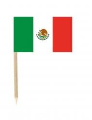Set van 50 Mexicaanse vlag prikkers