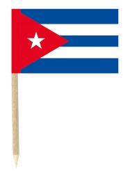 50 Kleine Cuba vlaggetjes prikkertjes