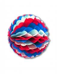 Papieren bol blauw wit rood 50 cm