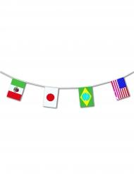 Plastic landen vlaggenslinger