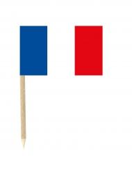 Set van 50 mini prikkers Franse vlag