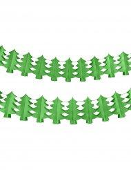 Papieren groene kerstboom slinger