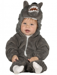 Grijze wolf kostuum voor baby
