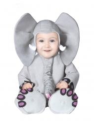 Grijs olifant kostuum voor baby