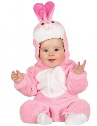 Roze konijn outfit voor baby