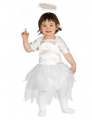 Klein wit engel kostuum voor baby