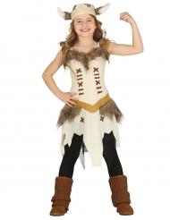 Beige viking kostuum voor meisjes