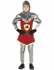 Zilverkleurig en rood ridder kostuum voor jongens