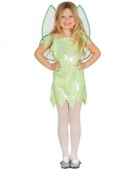 Kleine groene fee outfit met vleugels voor meisjes