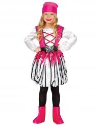 Roze gestreept piraten kostuum voor meisjes