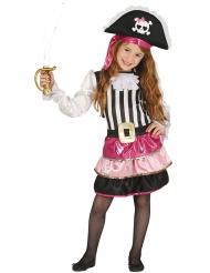 Roze glamour piraten kostuum voor meisjes