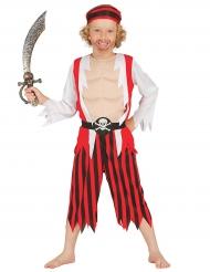 Gespierde piraat kostuum voor jongens