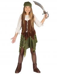 Gestreept piraten kostuum voor meisjes