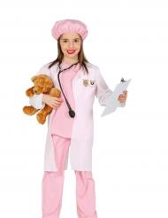 Roze dierenarts kostuum voor meisjes