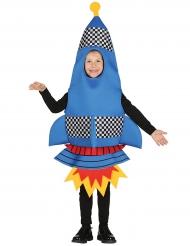Blauw raket kostuum voor kinderen