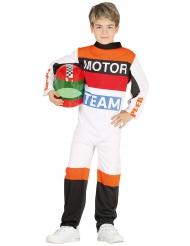 Motor coureur kostuum voor kinderen