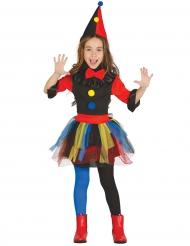 Clown kostuum met hoed voor meisjes