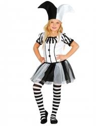 Zwart en wit harlekijn kostuum voor meisjes