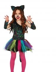 Regenboog luipaard kostuum voor meisjes