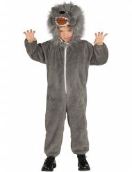 Grijze wolf kostuum met staart voor kinderen