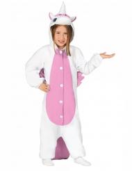 Wit en roze eenhoorn kostuum voor kinderen